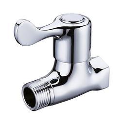 Weirun Bathroom Brass Quarter Turn Straight/Stop/Check Shut-