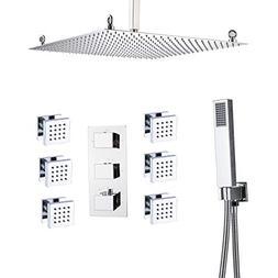 Rozin Bathroom Ceiling Mounted 20-inch Rainfall Shower Fauce