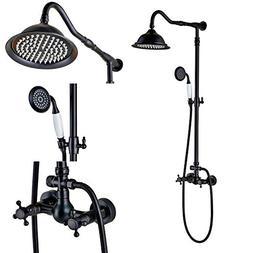Rozin Bathroom Dual Knobs Mixer Shower Set 8-inch Rain Showe
