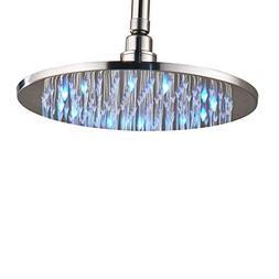 Rozin Bathroom LED Light 12-inch Round Rainfall Shower Head