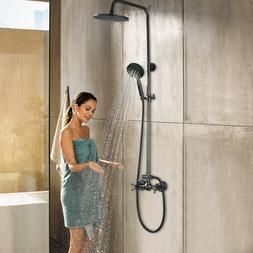 "Rozin Oil Rubbed Bronze 8"" Rainfall Shower Head Faucet Tub M"