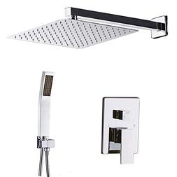 STARBATH Shower System Chrome with 12 Inch Shower Head and H