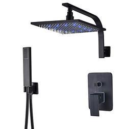 Rozin Bathroom 2-way Mixer Valve Shower Faucet LED 12-inch R