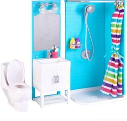 My Life Bathroom Play Set & Shower & Light-Up Vanity For Ame