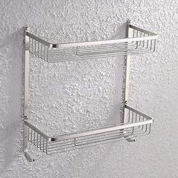 KES Bathroom Rectangular 2-Tier Tub and Shower Caddy Basket,