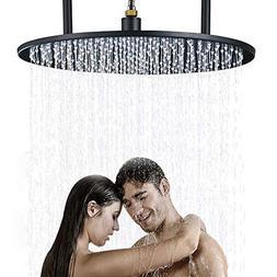 Senlesen Bathroom 20-inch Round Rainfall Top Shower Head Cei