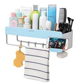 Adhesive Bathroom Shelf Storage Organizer Wall Monuted Float