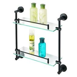 Alise Bathroom Shelf Shower Caddy Double-Layer Shower Glass