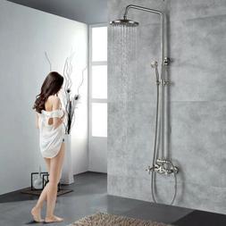 Bathroom Shower Faucet Set Wall Mount Shower Tap Kits Brushe