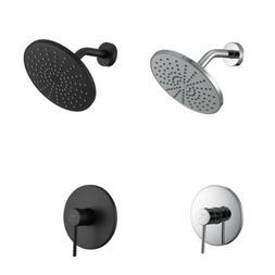 Bathroom Shower Faucet System Set 8''Rainfall Shower Head Br