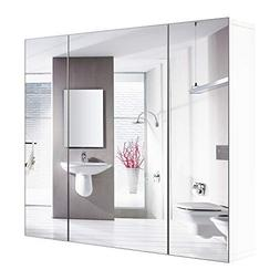 "HOMFA Bathroom Wall Mirror Cabinet 27.6"" Wide, Over The Toil"