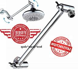 Bathroom Wall Mount Pipe Extension Shower Head Arm 11 Inch A