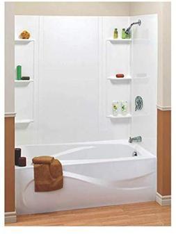 Bathtub Shower Tub Wall Surround 6 Shelves  5 Piece Bathroom