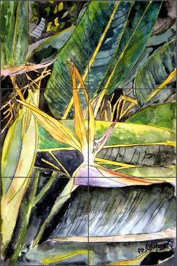 Bird of Paradise Tile Backsplash Derek McCrea Floral Art Cer