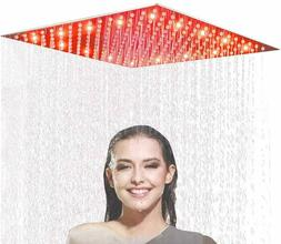 Black Colors 8 Inch LED Rainfall Shower Head Round Top Spray