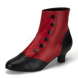 Black Red Burlesque Dancer Moulin Rouge Victorian Spats Shoe