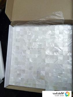 Brand New 1BOX 11pcs White mother of pearl Natural Shell Mos