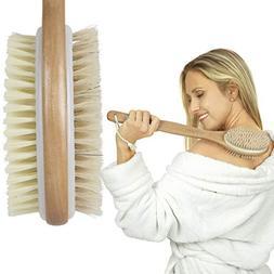 Body Brush by Vive - Scrubber for Dry Brushing, Skin Exfolia