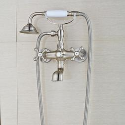 Brushed Nickel Bathtub Faucet with Tub Spout Faucet Ceramic
