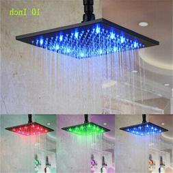 Brushed Nickel Shower Head 20 inch LED Rainfall Top Sprayer