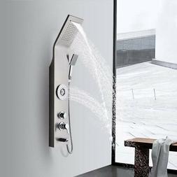 Brushed Nickel Shower Panel Column Body Spa Massage System W