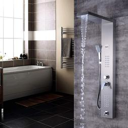 Brushed Nickel Tankless Massage Jet <font><b>Shower</b></fon