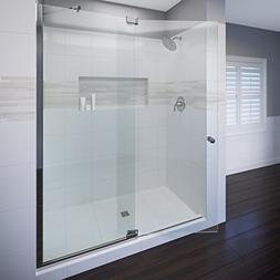 """Basco Cantour 48-1/16""""- 54"""" glass shower door & panel, 3/8"""""""