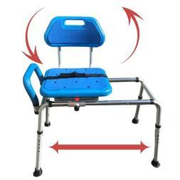 Carousel Sliding Transfer Bench with Swivel Seat. Premium PA