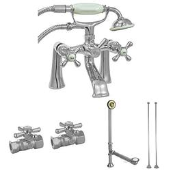 Kingston Brass CCK268C Deck Mount Clawfoot Tub Faucet Set Ch