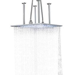 Rozin Ceiling Moutned 20-inch Square Rainfall Shower Head LE
