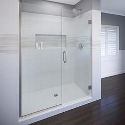 """Basco Celesta 46-1/16""""- 47"""" glass shower door and panel, 3/8"""