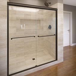 Celesta Semi-Frameless Sliding Shower Door,Fits 56-60 inch o