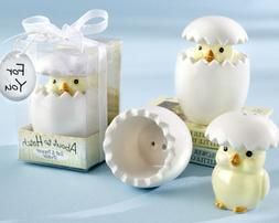 """""""About to Hatch"""" Ceramic Baby Chick Salt & Pepper Shakers -"""