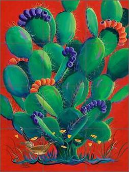 Ceramic Tile Mural Backsplash Shower Libby Southwest Cactus