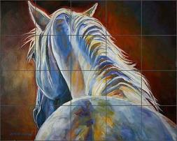 Ceramic Tile Mural Kitchen Shower Backsplash Williams Horse