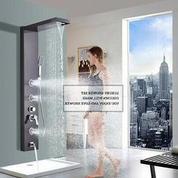 Stainless  Steel Shower Panel Tower Rain Waterfall Massage J