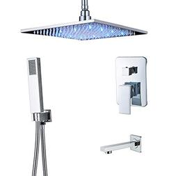 "Rozin Chrome 3-way Control Ceiling Mounted LED Light 12"" Rai"