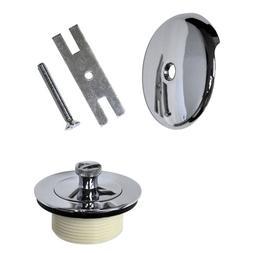 Danco Chrome Overflow Plate and Lift -Turn Bathtub Drain Sto