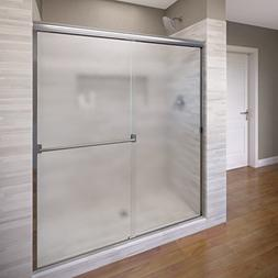 Basco Classic Sliding Shower Door, Fits 52-56 inch opening,