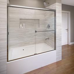Basco Classic Semi-Frameless Sliding Tub Door, Fits 52-56 in