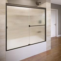 Basco Classic Semi-Frameless Sliding Tub Door, Fits 52-56 in
