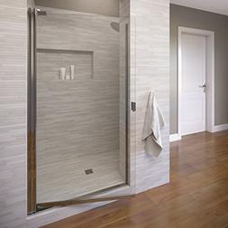 Classic Single Swing Shower Door, Silver, Clear