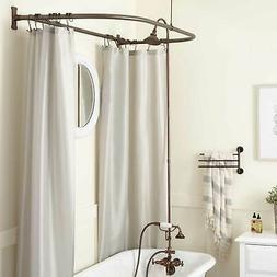 Clawfoot Tub Hand Shower Conversion Kit with D Style Shower