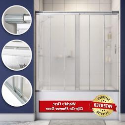 Clip On Sliding Bathtub Shower Door for Bath Tubs 58 to 63 i