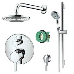 Hansgrohe Complete Chrome Raindance Shower Faucet Set with H