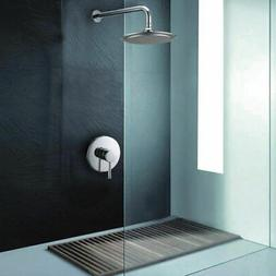 Concealed Wall Mount Bath Shower System with Rain Shower Hea