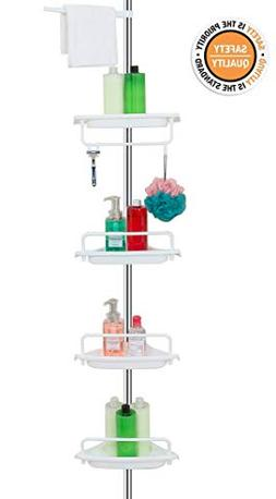 ALLZONE Constant Tension Corner Shower Caddy, Stainless Stee