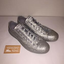 Converse Chuck Taylor Low Glitter Silver Shoes Unisex Women