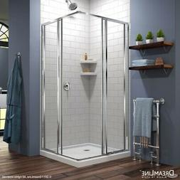 DreamLine Cornerview Sliding Shower Enclosure and 36x36-in S