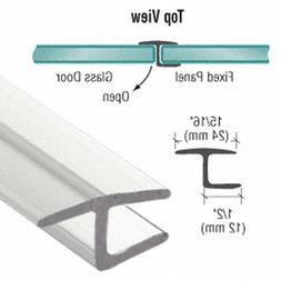 """CRL Polycarbonate""""h"""" Jamb with Hard Leg for 180 Degree and 3"""